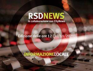 RSDNEWS GR LOCALE edizione delle ore 12 (30/11/2020)